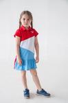 Платье детское лакост - Игра цветов - 3113 - красный