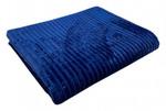 Плед велсофт ПОЛОСКА - синий р-р 170х200 (в наличии)