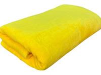 Плед плюшевый ПОЛОСА - желтый р-р 200х220