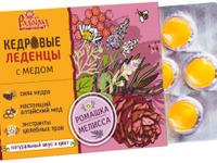 Леденцы медово-кедровые «Радоград» с ромашкой и мелиссой (6 шт., блист.)