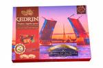 Конфеты Kedrini. Санкт-Петербург. Дворцовый мост. Сиб. орех с ягодами молочный шоколад, 160 г
