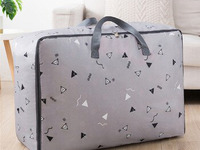 Кофр с ручками «Треугольники» для хранения одеял и подушек 55х20х40 см