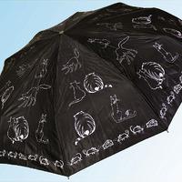 Зонт С012 коты жирные черные