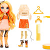 Rainbow Surprise Rainbow High Poppy Rowan – Orange Fashion Doll with 2 Outfits