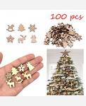 Набор новогодних мини фигурок из фанеры, 100 штук 9046360