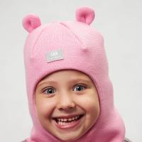 Зимняя шапка-шлем для девочки
