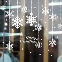 Наклейка на стекло «Падающие снежинки»