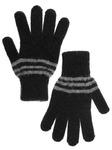 Перчатки мужские однотонные, полосатые