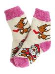 """Носки детские """"Мышь и Дед Мороз"""" 2-3 года"""