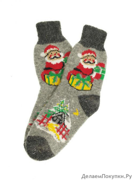 "Носки женские ""Дед Мороз с подарками"""
