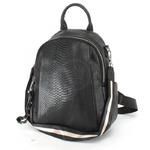 Сумка женская натуральная кожа GU 163-6016, (рюкзак) 1отд, 5невш+4внут карм, черный