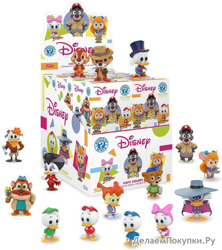 Funko Mystery Mini Disney Afternoon Characters Mini Toy Action Figure - 2 PACK BUNDLE