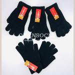 Перчатки универсальные чёрные с начесом арт. H-1