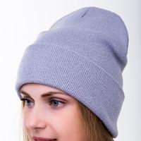 шапка 56-58 см двухслойная Шерсть 50% - Акрил 50%