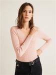 Ребристый вязаный свитер