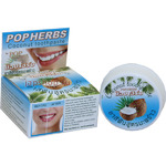 POP Herbs Coconut Toothpaste Зубная паста с кокосом, в круглой упаковке, 30 гр