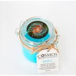 """Кремовое кокосовое мыло """"Blue crystal"""" """"COSMOS"""". Питание и защита. Стекло 200 мл."""