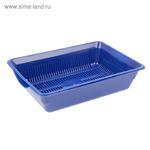 Туалет глубокий с сеткой, 36 х 26 х 9 см, синий
