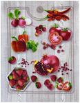 Полотенце рогожка СЕЗОН АРТ - красные овощи и фрукты р-р 50х60  (в наличии)