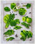 Полотенце рогожка СЕЗОН АРТ - зеленые овощи р-р 50х60  (в наличии)