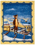 Полотенце рогожка ПИТЕРСКИЕ КОТЫ - на крыше р-р 50х60