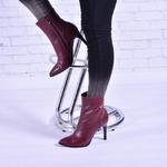 Женские кожаные ботинки на каблуке (байка/экомех/цигейка - на выбор)