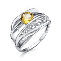 Серебряное кольцо с цитрином - 1359