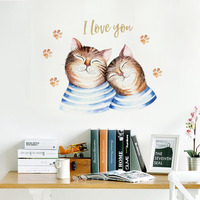 Наклейка многоразовая интерьерная «Коты»