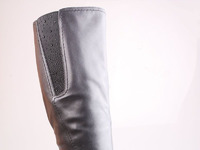 W16326  Сапоги жен черн нат кож байка 35-43