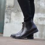Женские кожаные ботинки укороченные (байка/экомех/цигейка - на выбор)
