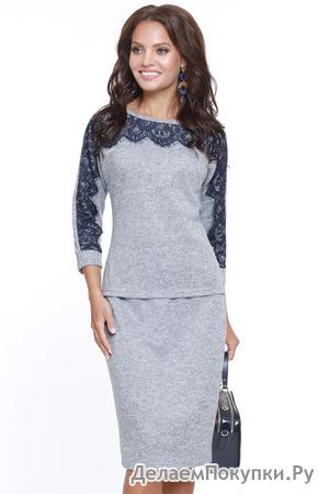 Модно утепляемся! Костюмы, платья и юбки из трикотажа?