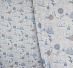 Вуаль печать Корабли Артикул: 92/9793-2 синий Состав ткани: 100% полиэстер Ширина рулона: 280
