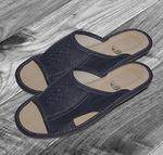 074 Обувь домашняя (Тапочки кожаные) мужские