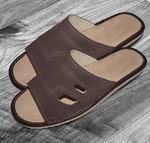 079 Обувь домашняя (Тапочки замшевые) мужские
