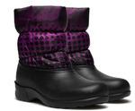 327-07 Дюна Сноубутсы , горошки на фиолетовом/черный, размеры 39,40,41