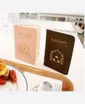 Обложка на паспорт, 4 карм. внутри. Цвет коричневый 9046343