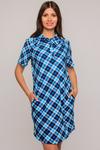Платье-рубашка арт. 551-4,бирюзовая