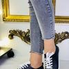 Слипоны женские на шнурках  черные(демисезон)