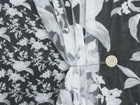Органза печать Калерия Артикул: 37/1706-1 белый+серебро  Ширина рулона: 2,8 м