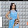 """Комплект нарядных платьев мама+дочка """"Бабочки"""" М-2122"""