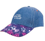 Джинсовая кепка для девочки, размеры 50-54