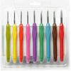 "Крючки для вязания ""Maxwell"" алюмин.с эргономич.ручкой TB.AL-REZ.MIX набор d 2-6 мм"