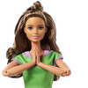 Barbie Made to Move Doll with 22 Flexible Joints Long Wavy Brunette Hair Wearing Athleisure-wear for Kids 3 to 7 Years Old