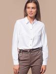 Базовая белая блузка из тонкой смесовой ткани Цвет: белый  Артикул: D29.703
