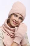 Комплект шарф, шапка, варежки 54-58 см Ангора, полный подклад флис - Шерсть 60% -10%полиамид- 30% ангора