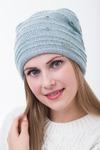 шапка 55-58 см двухслойная - Мохер 50% - Акрил 50%