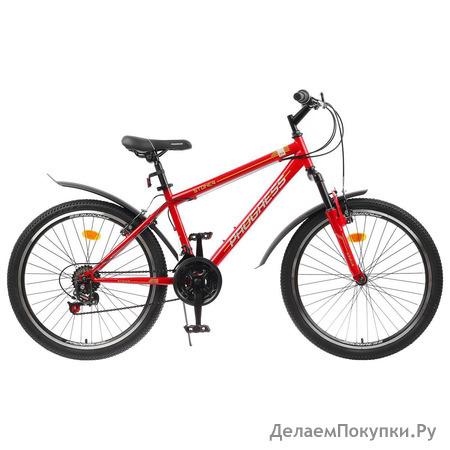"""Велосипед 24"""" Progress модель Stoner RUS, цвет оранжевый, размер 15"""""""