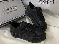 Женские кеды D7239-1 черные