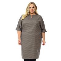 """Платье с цельнокроеным рукавом, ткань костюмная, """"гленчек"""" , размер 48-80"""