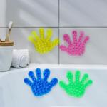 Мини-коврик для ванны «Рука», 13x13 см, цвет МИКС